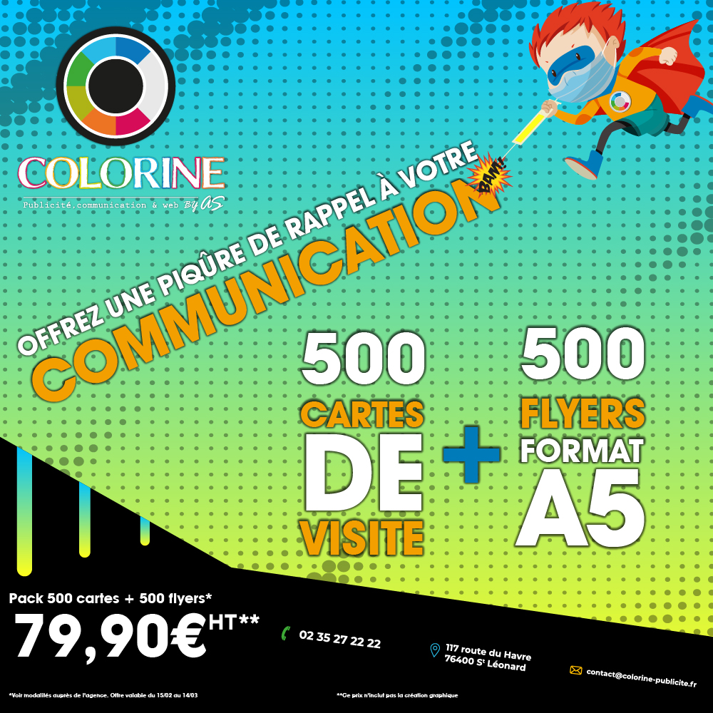 Promo CDV + Flyers Colorine By AS